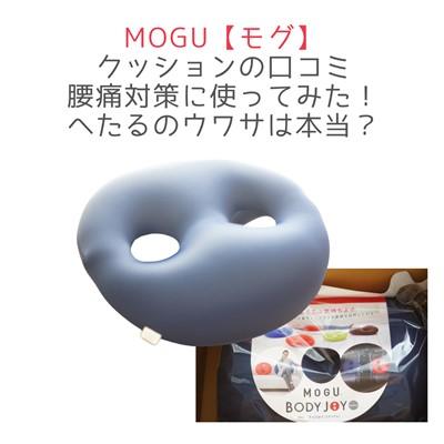 MOGUモグのクッションの口コミ腰痛対策に使ってみた!へたるのウワサは本当?