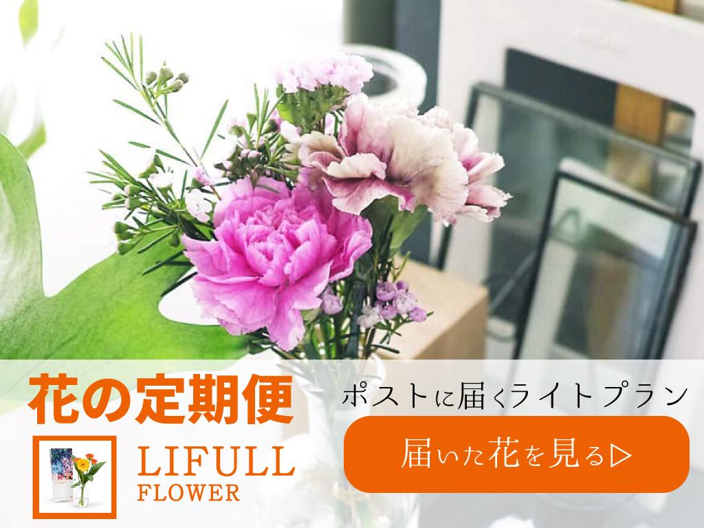 【LIFULLFLOWER】ライフルフラワーの口コミ!お花の宅配の正直な感想口コミ